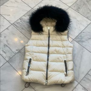 Add down vest , raccoon trim, 8